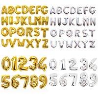 ballons numéros d'or achat en gros de-32 pouces Numéro Lettre Ballons En Aluminium Film Or Argent Alphabet À Air Ballons Numériques Globos Fête D'anniversaire Décoration OOA6829