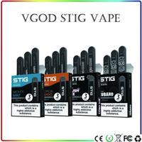 bir kartuş toptan satış-Orijinal VGOD STIG Tek Kullanımlık Pod Cihazı 270 mAh Pil 1.2 ml Vape Kartuşu All-In-One Tek Kullanımlık Pod Sistemi 5 tatlar 3 Adet / paket
