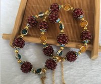 Wholesale manufacturer silver china for sale - Group buy Jade manufacturers natural rose red garnet bracelet A purple teeth garnet flowers bracelets will sell gifts