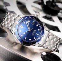 mavi dalış saati otomatik toptan satış-Ceragold Teknolojisi Erkek Saatler Oluşturur Seramik Dalış Izle çerçeve Lüks İzle 42mm Mekanik Otomatik Tasarımcı Saatı Mavi Siyah