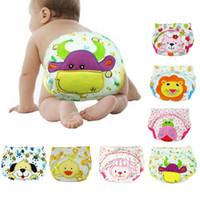 Wholesale cartoon diaper pants resale online - Children Cartoon Potty Leak proof Diapers Training Pants Cotton Panties Cm Briefs Newborn Underwear For Baby Boy
