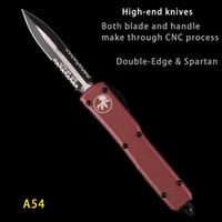 alças de transporte venda por atacado-AUTO MICRO UTX-85 Faca Automática MT TECNOLOGIA faca dupla lâmina de serra marrom preto lidar com cada dia levar facas de bolso