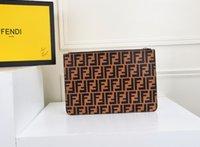 клатчи оптовых-Женская дизайнерская сумка на молнии, тонкий срез, кожаный материал, контрастный цвет, мозаика, тиснение, буква F, клатч Размер 29