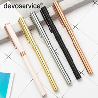 Wholesale gel highlighter pens resale online - 1pc Promotion Metal Gel Pen Advertising High end Gift Signature Pen Creative Student Stationery Business Office Supplies Gel