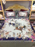 Wholesale horse bedding sets king size resale online - 2019 Super luxury European Style horse H Bedding set Fashion Bed King Queen Size Duvet Cover Set Brand Design Print Bedding Sets
