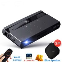 Wholesale android home theater resale online - H96 Max Mini DLP Projector Full HD K WIFI G Android Touch Button Voice Remote Inch Home Theater Projectors Beamer
