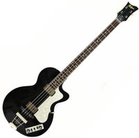 Wholesale violin guitars string for sale - Group buy Custom String s Hofner Contemporary HCT Violin Club Bass Black Electric Guitar quot short scale Length White Pearl Pickguard