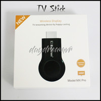 Wholesale airplay iphone for sale - Group buy New MX PRO TV stick HDMI Full HD P anycast Miracast DLNA Airplay WiFi Display Receiver Dongle for Andriod IOS iphone X XR