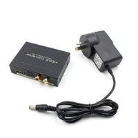 convertidor de audio óptico hdmi al por mayor-1080p HDMI a HDMI Optical + SPDIF + RCA L / R Extractor Convertidor Divisor de audio