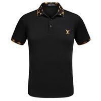 erkekler için ekose polo gömlekleri toptan satış-Erkek tasarımcı t shirt Yaz Sokak giyim Avrupa Paris yaz Işlemeli Ekose mektuplar t shirt Yüksek Kalite erkekler ve kadınlar Polo gömlek