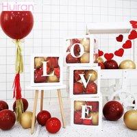transparent karton großhandel-Huiran Transparent Ballon Aufbewahrungsbox Für Hochzeitsfeier Braut Papier Briefe Karton Geburtstag Karton Baby Shower
