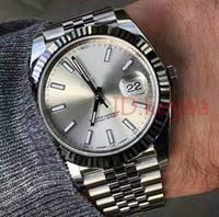só para homens venda por atacado-Mens de luxo Relógios de Aço Inoxidável 41mm Relógios Homens Data 2813 Mecânico Automático Apenas Presidente Desinger Mens Relógios de Pulso