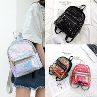 Wholesale ladies rucksack handbags for sale - Group buy Women Sequin Leather Rucksack Backpack Handbag Anti theft Ladies Shoulder Bag