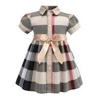 1e91701466060 bébé fille vêtements de créateurs robe d été filles robe sans manches coton  de haute qualité bébé enfants grande robe à carreaux robe multi couleurs ...