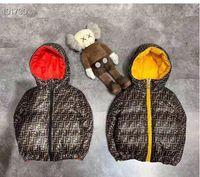 jaqueta para baixo menina da venda dos miúdos venda por atacado-venda da marca quente revestimento do inverno para crianças Casacos Down For Quente menina com capuz manga comprida da criança do bebê Meninos Jacket Crianças Parka Casacos