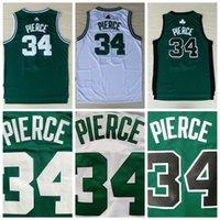 03d1dc81f La mejor calidad   34 Paul Pierce Jersey verde blanco para hombre 100%  bordado logotipo cosido barato Paul Pierce camisas envío gratis