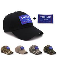 Wholesale keep hats online - Trump hat Keep America Great Snapback Hat DIY Hook And Loop Trump Hat Camouflage Snapback Baseball Cap LJJK1697
