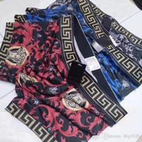 hot mens impresso cueca venda por atacado-Hot listrado impressão mens boxers designer de algodão moda sexy boxers para homens respirável mejns underwear designer