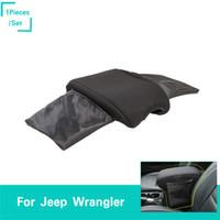 auto reposabrazos caja de auto al por mayor-Car Armrest Box Cover Black B para Jeep Wrangler JL 2018+ Factory Outlet High Quatlity Auto Interior Accesorios