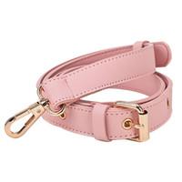 девушки, стянутые кожей оптовых-Detachable Strap Replacement Bags Straps Women Girls PU Leather Shoulder Bag Parts Accessories Gold Buckle Belts 152cm Pink