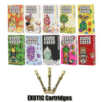 Wholesale gift package online - New Engraving Exotic Carts Mario Carts Cartridges Gift Box Package ml Holograms Gold Vape Thick Oil AC1003 Ceramic Coil Glass Tank