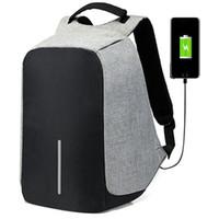 macbook rucksack laptop 15 zoll großhandel-15,6-Zoll-Laptop-Rucksack USB Anti-Diebstahl-Rucksack Männer Spielraum-Rucksack-wasserdichte Schultasche Male Mochila Lade