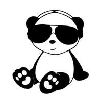 dessin animé de panda violet achat en gros de-Mignon Panda Lunettes De Voiture Bumper Decal Drôle JDM Autocollant Vinyle Personnalité Accessoires Décoratif Motif Animaux