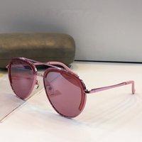 Wholesale red mirror sunglasses aviator online - Womens Brand Luxury Designer Sunglasses Aviator Metal Frame Noble Specially Designed Authentic Glaases UV400 Sunshades Eyewear With case