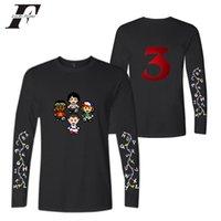uzun tişört artı boyutu toptan satış-Toptan t shirt Baskı Erkekler Giyim 2019 Tshirt Harajuku Uzun Kollu Stranger Şeyler Sezon 3 Üstleri Tee T-shirt Hip Hop Artı Boyutu