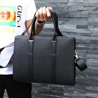 Wholesale luxury men briefcase resale online - New Classic Men Handbag Designer Fashion Luxury Design Leather Making High end Atmospheric Briefcase Single Shoulder Bag number