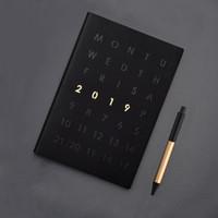 a5 planer großhandel-Agenda 2019 Planer Organizer Tagebuch A5 Notebook Teiler wöchentlich monatlich persönliches Reisetagebuch Journal niedlich Business Notizbücher