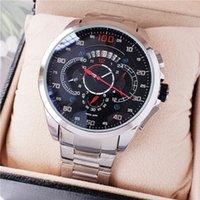 kronometre su geçirmez saat toptan satış-YENI ETIKETI izle Çalışma saniye kuvars hareketi çapı 44mm Kol marka adam İzle Lüks su geçirmez AAA kronometre chronograph Saatı