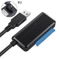 usb hdd kablolama toptan satış-Sata Adaptör Kablosu USB 3.0 Sata Dönüştürücü 2.5 3.5 inç Süper Hızlı Sabit Disk Sürücüsü için HDD SSD USB 3.0 için Kablo