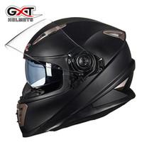Wholesale gxt motorcycle helmets resale online - GXT Motorcycle Helmet Double Lens Full Face with Shield Lock System Motorbike helmet Moto Casco