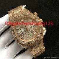Wholesale luxury high end watch resale online - 2019 high end quality products men s Diamond Rose Gold watch quartz movement a large number of