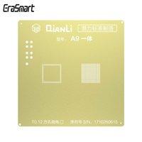 a9 cpu großhandel-QIANLI IOS Goldene 3D BGA Reballing Schablonen CPU A9 3D Stahlgewebe