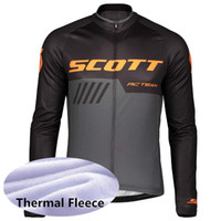 Wholesale team cycling clothing sale resale online - Popular sale SCOTT team men Cycling Winter Thermal Fleece jersey zipper Comfortable Wear resistant Bicycle equipment Clothes
