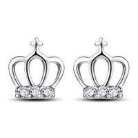 cruces de plata de ley de la vendimia al por mayor-925 joyas de cristal de plata esterlina cruces en forma de corona en forma de cruz boda étnica vintage nuevos encantos de la llegada