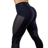 pantalones de yoga de cintura alta ajustados para niñas al por mayor-Leggings sin costura Tight Cintura alta Pantalones de fitness Tallas grandes Gimnasio Yoga Pantalones Mujer chica para gimnasio / correr / gimnasio deportivo