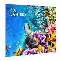 Wholesale 240x240cm Seg Edge Lit Light Box Stand Double Sides Fabric Light Boards with Custom Printing Fabric Posters Flat Packing