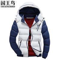 ingrosso il rivestimento degli uomini di cappuccio staccabile di modo-Autunno-Men giacca giacca di cotone invernale maschile della 2016 Fashion Casual spessa giacca imbottita Giù uomini della nuova staccabile Cap Coat95