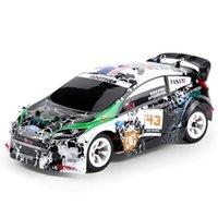 moteurs électriques pour petites voitures achat en gros de-1/28 châssis électrique en alliage de véhicule 2.4GHz de véhicule tout-terrain de la voiture RC 130 moteur balayé 30km / h RC voiture de pays croisée UE Plug enfants jouet