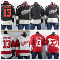 Wholesale hockey player for sale - Group buy Detroit Red Wings Jerseys The Best Player Of Pavel Datsyuk High Quality Embroidered Men s Ice Gray ice Hockey Jerseys Stitched