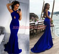 Wholesale african prom dresses for sale - Group buy Sexy Royal Blue Mermaid Evening Dresses Backless Satin Plus Size African Prom Juniors Gowns Formal Pageant Party Dress Vestido de noche