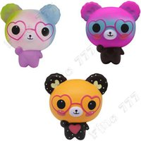 Wholesale rose toy resale online - Jumbo Kawaii Squishy Love Cute Glasses Bear Scented Squishy Charm Super Slow Rising Squeeze Toys Stress Reliever Toy
