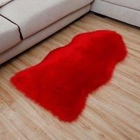 ingrosso biancheria da letto di colore giallo-Nuova lana d'imitazione moda peluche tipo naturale intero letto in pelle coperta tappeto pavimento a buon mercato divano tappeto coperta coperta DT-21