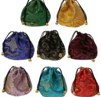 joyería china de alta calidad al por mayor-Alta calidad tradicional bolsa de viaje de seda clásico chino bordado empaquetado de la joyería bolsa de bolsos de la joyería consejos GB