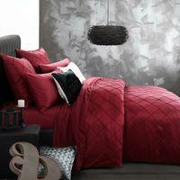 lavage de la soie achat en gros de-linge de lit de luxe lavé soie vérifie brodé chèques literie ensemble roi reine taille housse de couette drap taie / turquoise