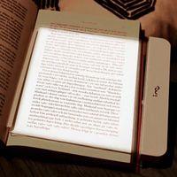 luz plana mágica led al por mayor-La magia de panel plano de visión nocturna libro de la luz LED de lectura libro placa plana portátil de viaje de coches Reading Panel luz con pilas ojos protege