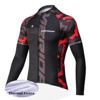 Wholesale merida clothes resale online - New MERIDA Cycling Winter Thermal Fleece Clothes Men Warm Jersey Racing Clothing Bike Wear Bicycle Maillot Ropa Ciclismo Y